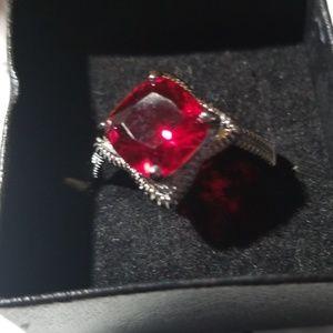 Faux stone ring sz 8